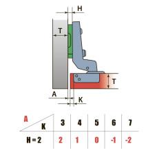 Петля Внутренняя 110° с лапкой H=2 LinkenSystem