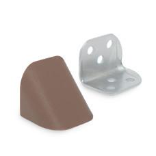 Уголок двойной металл/пластик, венге