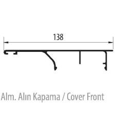 Декоративная заглушка к раздвижной системе для межкомнатных дверей, L-3000 мм, Albatur