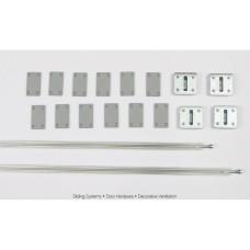 Выравниватель двери M18 CG-07, L-2032 мм из алюминия, Albatur