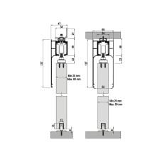 Комплект роликов для межкомнатной двери M20 9700, Albatur
