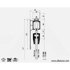 Комплект роликов для межкомнатной двери из стекла M23 9920 SFT, Albatur