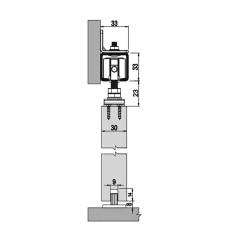Комплект роликов для межкомнатной двери M20 7380, Albatur