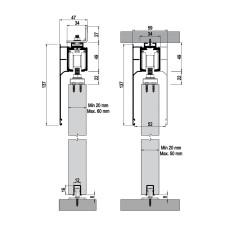 Комплект роликов для межкомнатной двери M20 9720 SFT, Albatur