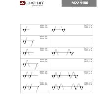 Комплект роликов для складывающихся дверей M22 9500, Albatur
