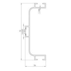 Профиль C GOLA для фасадов без ручек алюм, L-4200 мм, Linken System