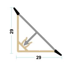 Бортик треугольный алюминий Н=30 мм х 4 м Linken System