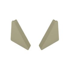 Бортик треугольный ЗАГЛУШКА, универсальная, INOX, Linken System