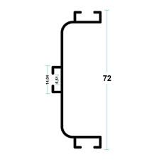 Профиль C GOLA для фасадов без ручек алюм, ЧЕРНЫЙ МАТ, L-4200 мм, Linken System