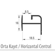 Горизонтальный профиль под ДСП/стекло для раздвижной системы M03 SRG 100, L-3000 мм, Albatur