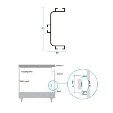 Профиль C GOLA для фасадов без ручек алюм, БЕЛЫЙ, L-4200 мм, Linken System