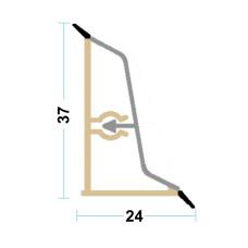 Бортик столешницы алюминий Z-форма, L-4000 мм Linken System