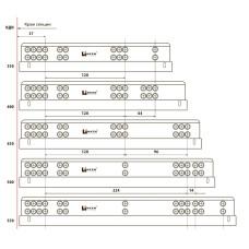 Направляющая скрытые Linken System (35 кг) L=550 Тouch Latch + крепления