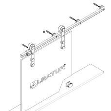Амбарная система для межкомнатной двери из стекла M23 8900 200, Albatur