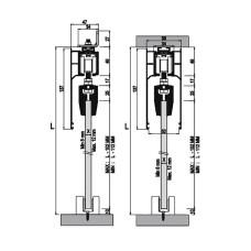Комплект роликов для 2-х межкомнатных дверей из стекла M24 9960 SFT, Albatur