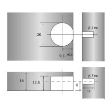 Стяжка R-Fix 16мм Антрацит (NEW) + зацеп Linken System