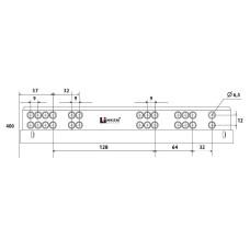 Напр. скрытые LinkenSystem (35 кг) 16-19мм SYNCHRO-3D L=400 полн.выдв.с доводч+креп.