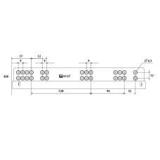 Напр. скрытые LinkenSystem (35 кг) 16-19мм SYNCHRO-3D L=450 полн.выдв.с доводч+креп.