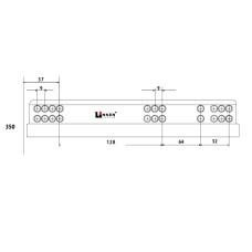 Напр. скрытые LinkenSystem 16-19мм L=350 НЕПОЛНОГО выдв. с доводч+креп.