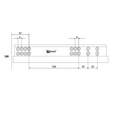 Напр. скрытые LinkenSystem 16-19мм L=300 НЕПОЛНОГО выдв. с доводч+креп.