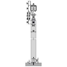Комплект роликов для межкомнатной двери M20 7120, Albatur