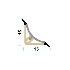 Бортик H-15 черный, Linken System, 4м