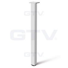 Квадратная мебельная опора GTV с регулировкой 46х46х710 Алюминий