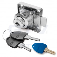 Замок GTV квадратный хром 138 + цифровой ключ