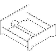 Соединитель для каркаса кровати поперечная 70 мм