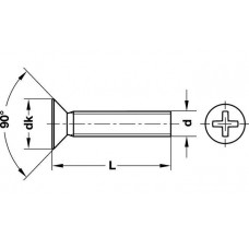 Винт М6 х 10 DIN 965