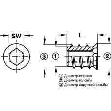 Муфта для ввинчивания M4 8x10 SW14