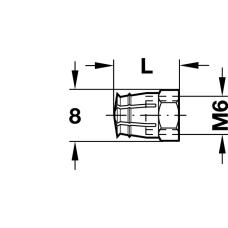 Распорная муфта М6 х 12 мм латунь