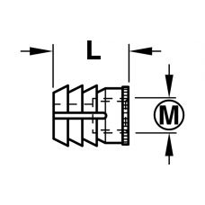 Муфта для вклеивания нейлоновая M 10 мм L 12 мм