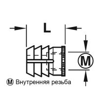 Клеевая муфта М6 D10 мм L 11 мм