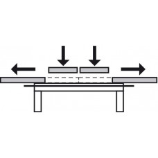 Направляющая для раздвижных столов 1040 x 740 мм