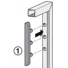 Адаптер для алюминиевых рам цамак никелированный к FREE 1.7, 3.15, E-Verso, E-Strato, Free flap, Free swing, Free up