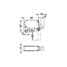 Комплект автоматическая пружина Mini Latch никелированная белая 27 х 34 мм