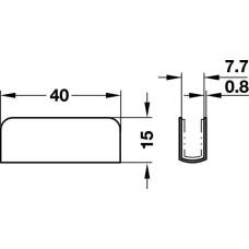 Ручка к магниту 40 х 15 сталь хромированная для стекла 4 - 6 мм