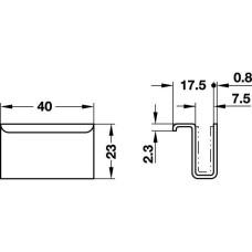 Ручка к магниту 40 х 23 мм стекло 4-6 мм хромированная