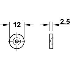 Защелка магнитная 2 кг черный