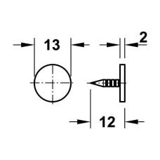 Фиксатор магнитный боковой 3-4 кг белый