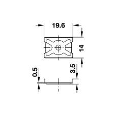 Стяжка задней стенки 14х19, 6 мм с шипами