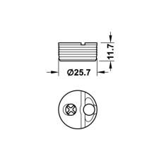 Корпус стяжки TOFIX для толщины плиты 18-25 мм пластик, белый