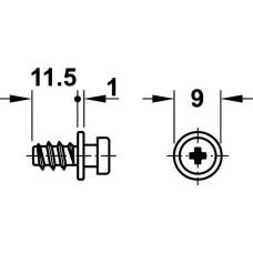 Соединительный винт Modular оцинкованный. D5х12,7 мм