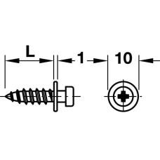 Шуруп MODULAR стальной оцинкованный 6.5x16 мм
