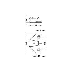 KEKU, рамная часть ASR, крепление Varianta d 3-5 мм