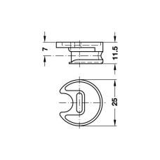 Корпус стяжки RondoRfix для толщины 16 мм цамак