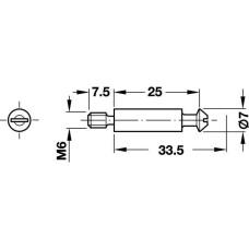 Стяжка Rondorfix 33,5 мм сталь
