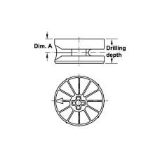 Корпус стяжки Maxifix цинк без покрытия 35 19