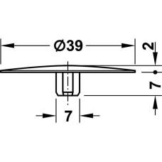 Заглушка для корпуса стяжки MAXIFIX E пластиковая черная D39 мм